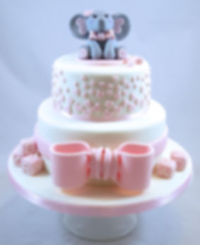 Baby Elephant Baby Shower Cake Sussex