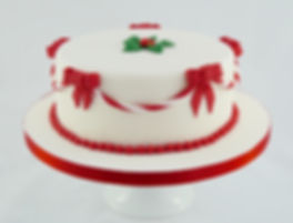 Festive Holly Christmas Cake Sussex