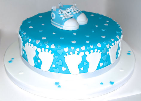 Baby Converse Baby Shower Cake Sussex