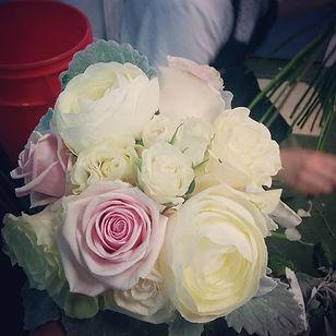 White Garden Rose Bouquet two buds floral artistry | edmonton wedding flowers | edmonton flowers