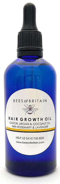 HAIR GROWTH OIL - CASTOR, ARGAN & COCONUT OIL + ROSEMARY & LAVENDER -100 ml