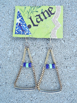 Scales of Silver Earrings