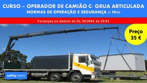 Curso online - Operador de Camião c/ Grua Articulada - Normas de operação e segurança    7 Hrs