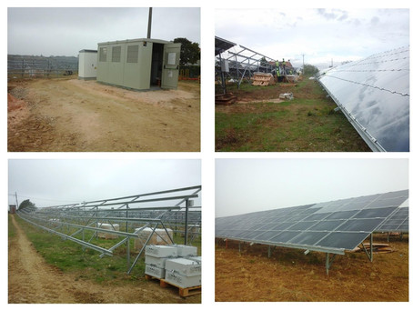 Coordenação de Segurança em Obra na construção de uma Central Solar Fotovoltaica, em Tomar, Santarém