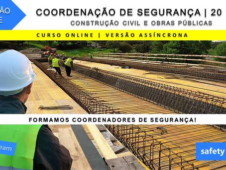 Curso online - Coordenação de Segurança na Construção Civil e Obras Públicas   20 Hrs