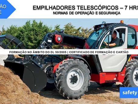 Curso online - Empilhadores telescópicos - Normas de operação e segurança    7 Hrs