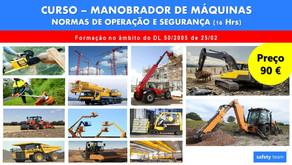Curso online - Manobrador de Máquinas - Normas de operação e segurança  | 16 Hrs