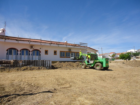 Auditorias técnicas de segurança em obra, na ampliação de lar de idosos em Estremoz, Évora