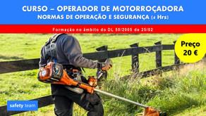 Curso online - Operador de Motorroçadora - Normas de operação e segurança    4 Hrs