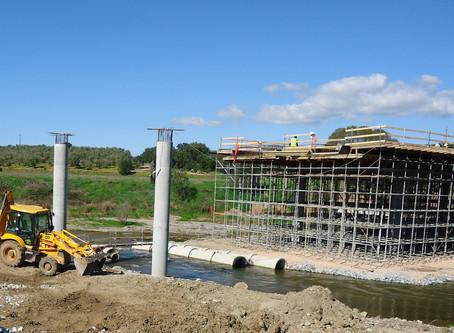 Coordenação de Segurança em Obra na construção da ponte da Ribeira Grande, em Fronteira, Portalegre