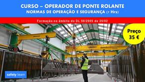 Curso online - Operador de Ponte Rolante - Normas de operação e segurança    7 Hrs