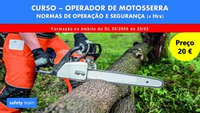Curso online - Operador de Motosserra - Normas de operação e segurança    4 Hrs