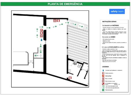 Que edifícios devem estar dotados de plantas de emergência?