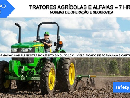 Curso online - Tratores agrícolas e alfaias - Normas de operação e segurança    7 Hrs