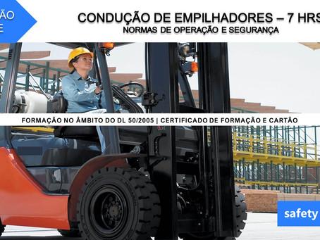Curso online - Condução de empilhadores - Normas de operação e segurança    7 Hrs