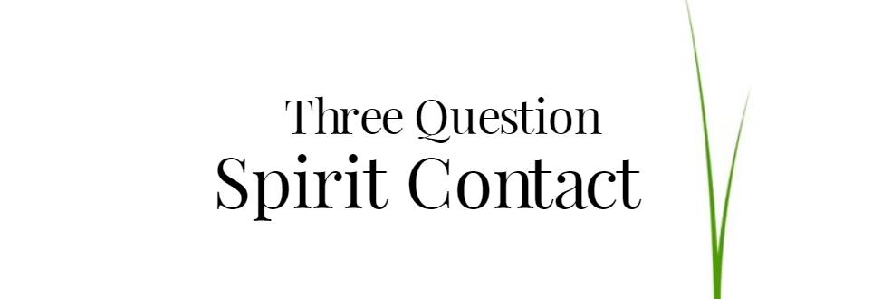 Üç Soru Ruhu İletişimi