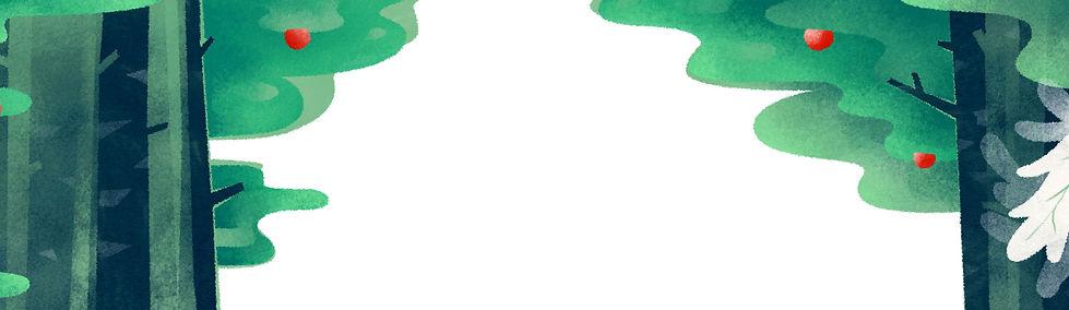 Иллюстрированный фоне леса