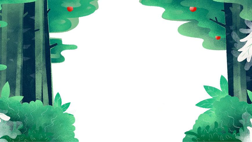 Contexte de la forêt illustrée
