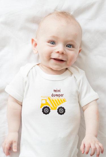'Mini Dumper' babies short sleeve cotton vest