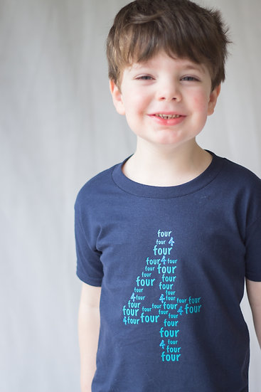 Age number T shirt 1-4 years