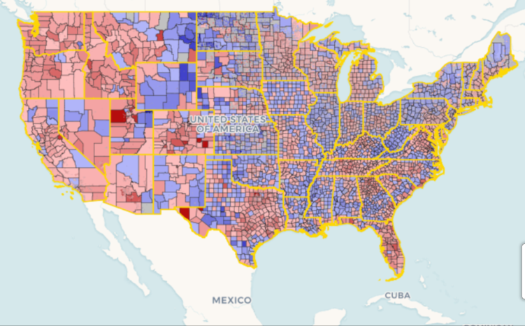 Population Change Maps
