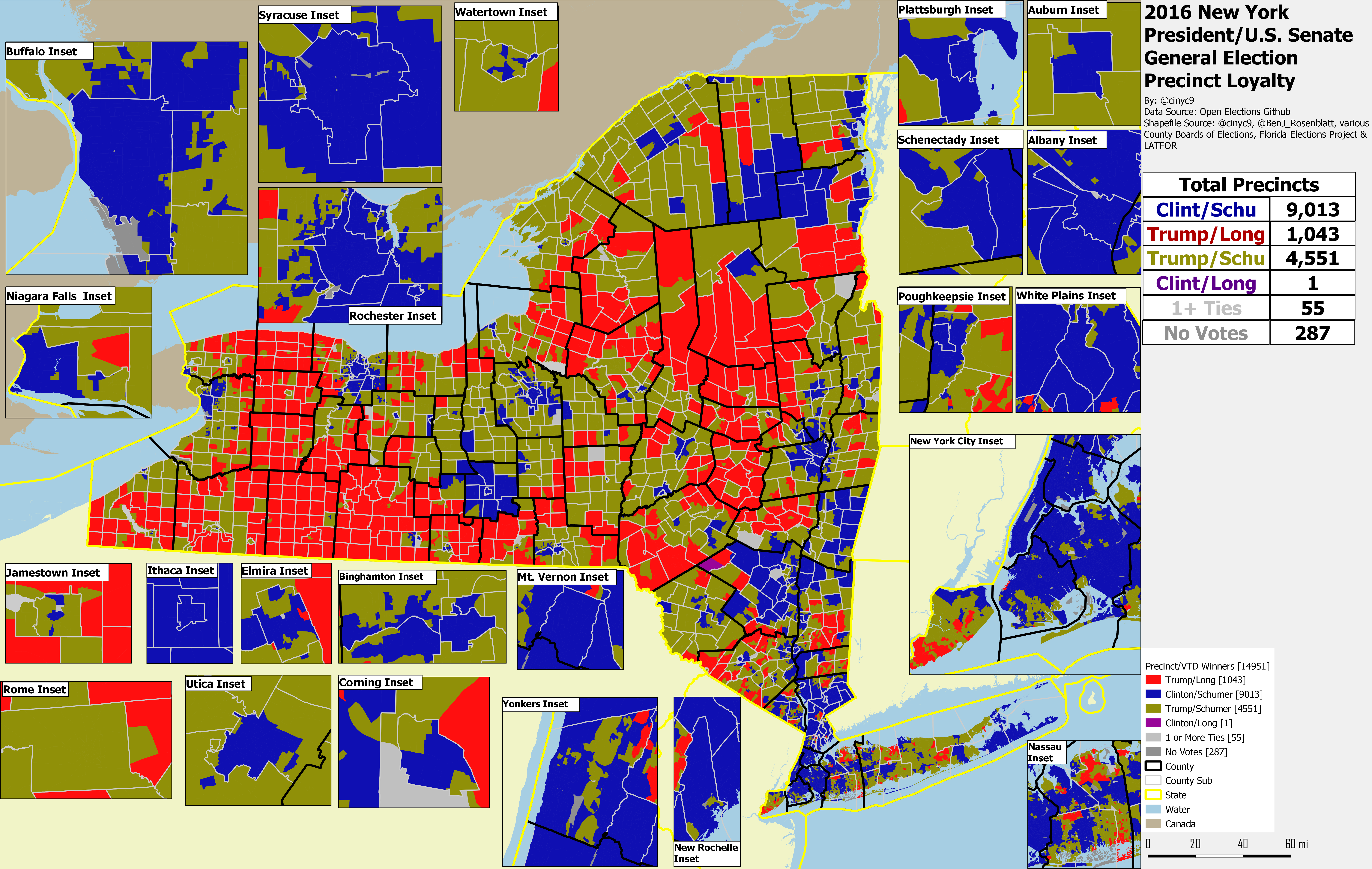 New York 2016/18 Election Results by Precinct – RRH Elections