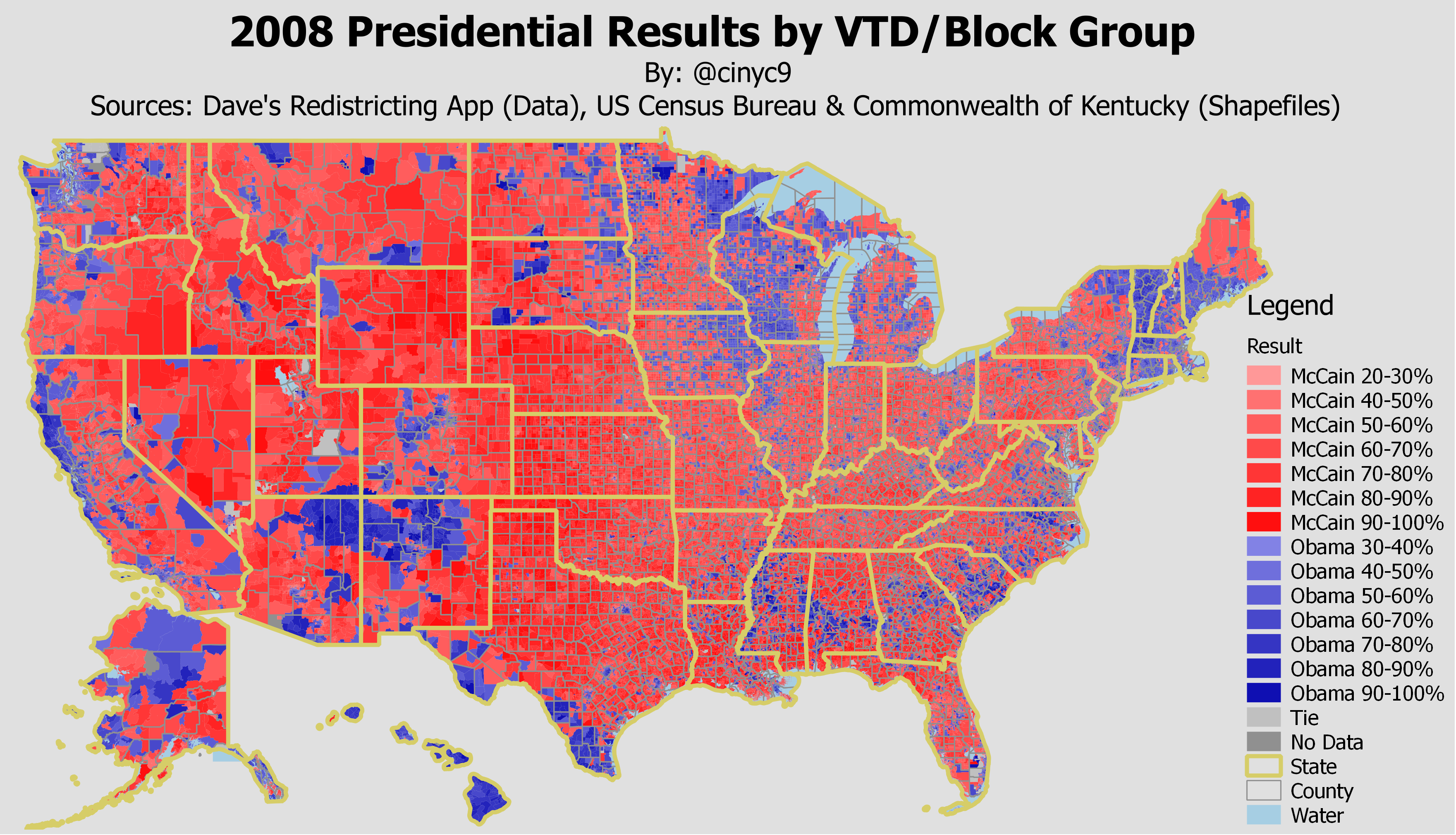2008 Pres Results by VTD/Block Group