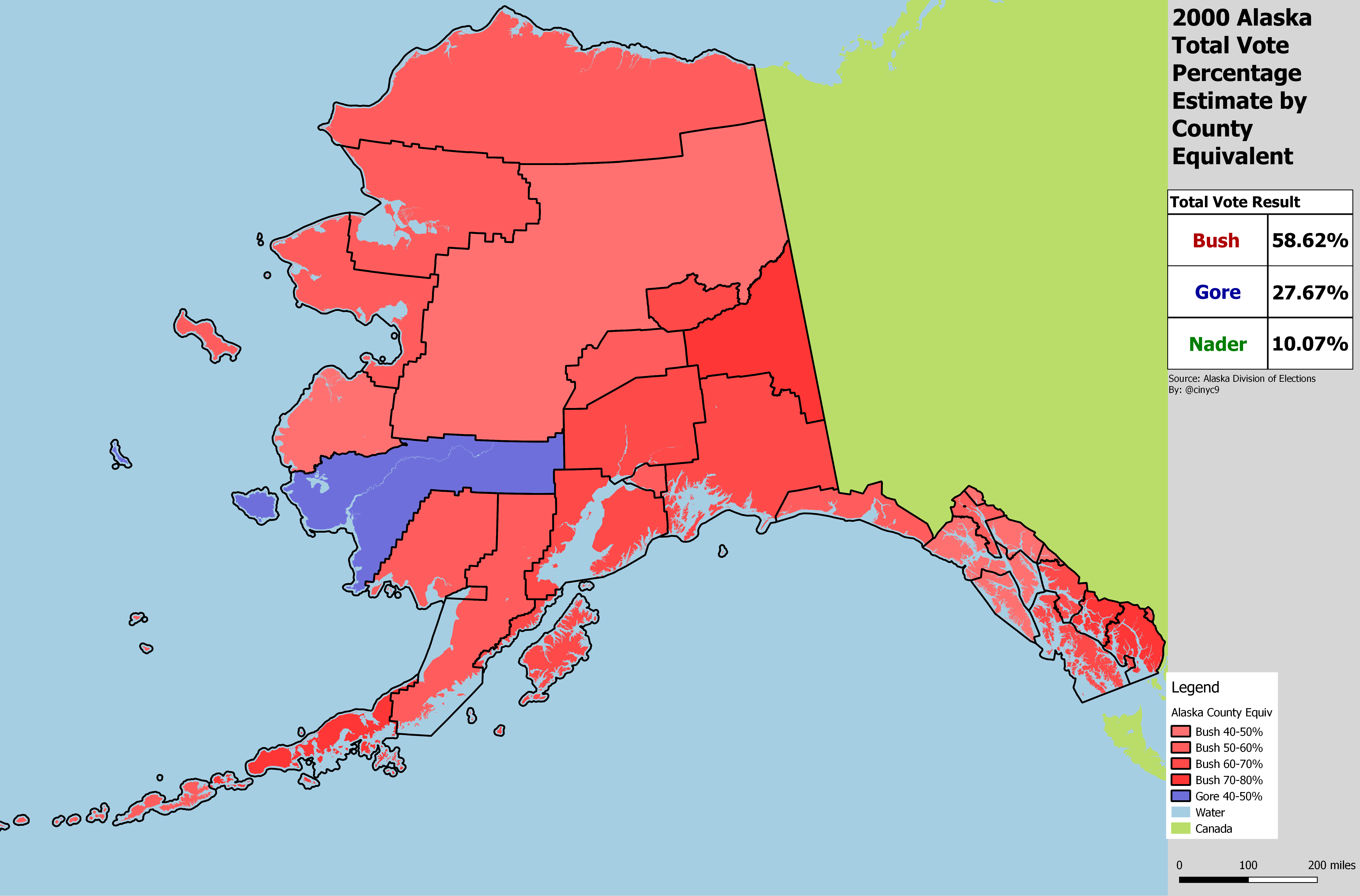 Alaska Results by County Equivalent, 1960-2016 – RRH Elections