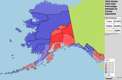 Alaska Pres Results by County Equiv