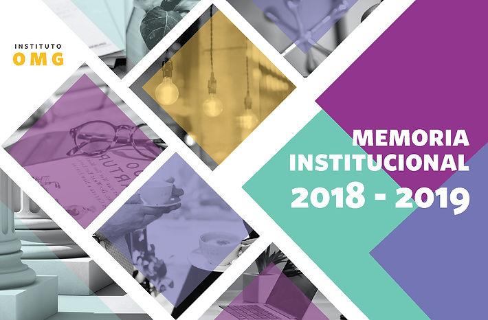 Portada Memoria Institucional IOMG 1819.