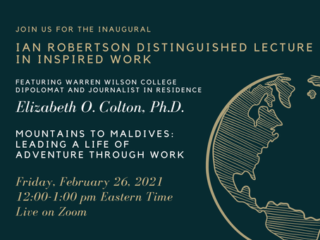 Colton to Offer Inaugural 'Inspired' Lecture at Warren Wilson