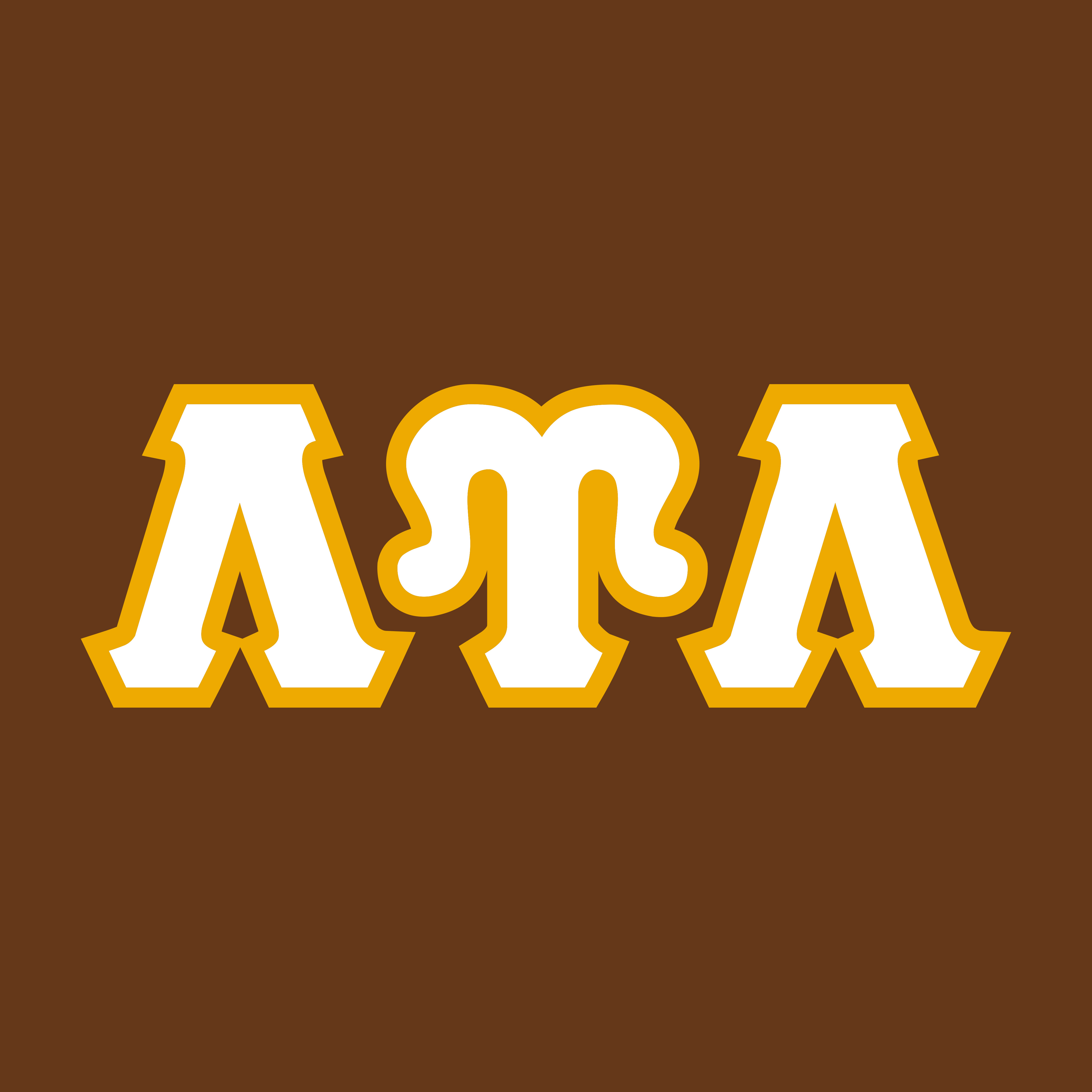 LUL Letters White/Gold on Brown
