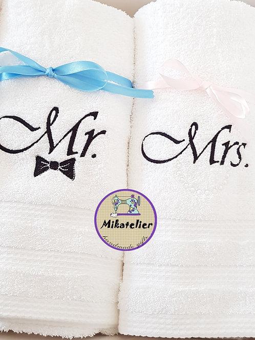 Set cadou 2 prosoape Mr. &Mrs.