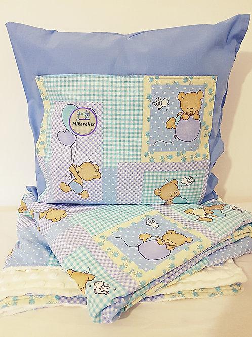 Set Bear - perna cu buzunar pentru carte si paturica