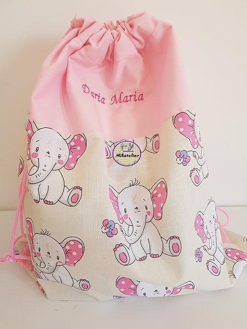 Rucsac cresa/gradinita elefantei cu urechi roz