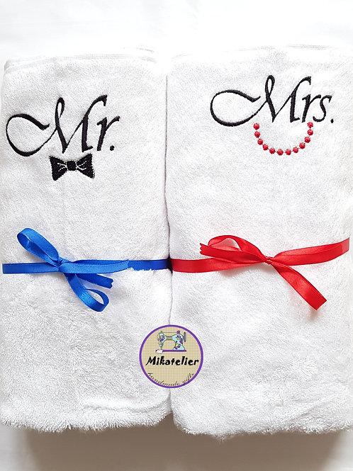 Set cadou 2 prosoape Mr. & Mrs.