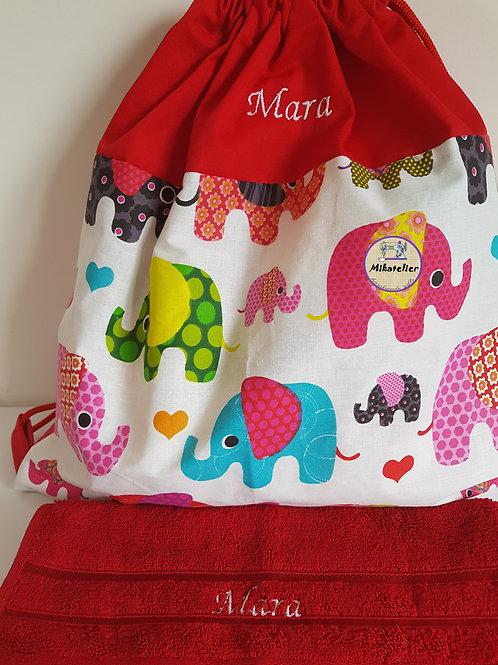Rucsac cresa/gradinita -elefantei colorati