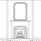 Decors Maison d Archie - Cheminee Miroir