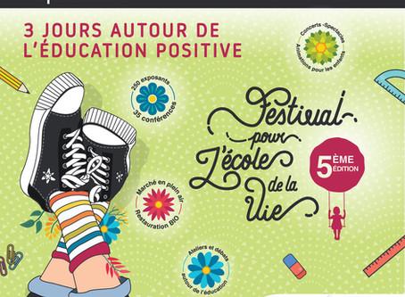 Manufacture en famille participe au Festival pour l'Ecole de la Vie 2019!