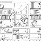 Decors Maison d Archie - Bibliothèque.jp