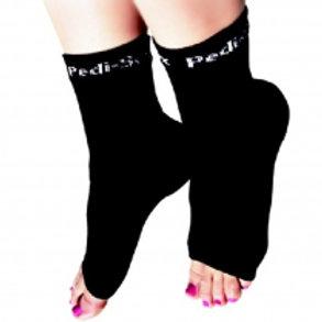Professional Sexy Solid Black Pedi-Soc