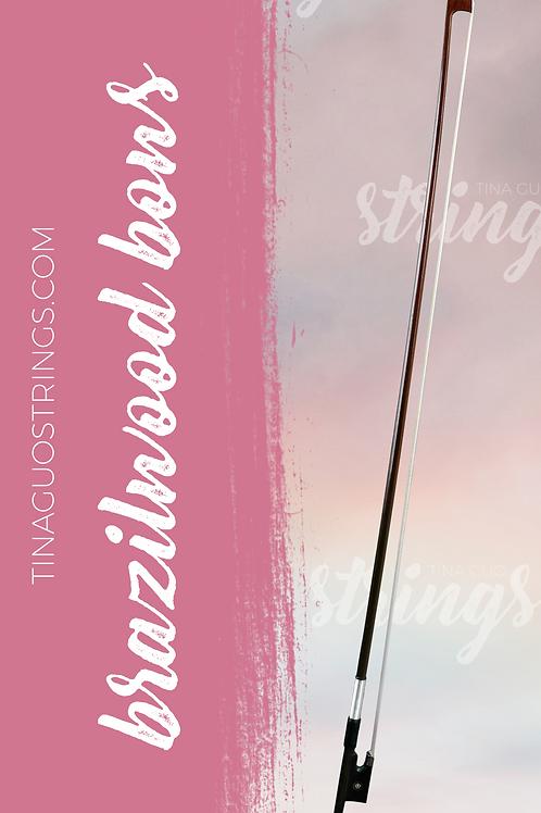 Brazilwood Bow for Violin, Viola & Cello