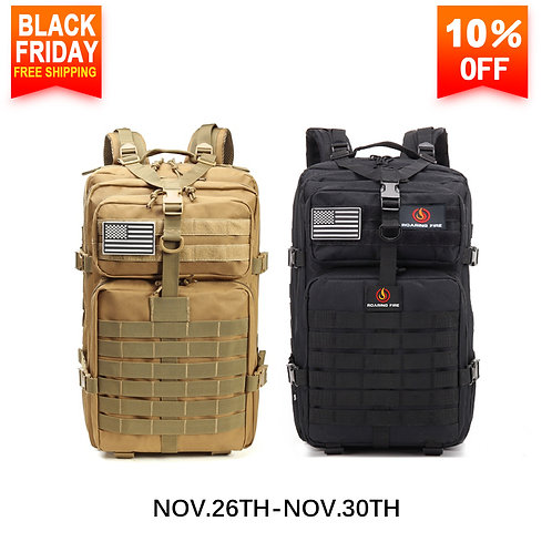 Roaring Fire Tactical Backpack, Molle Backpack 45L