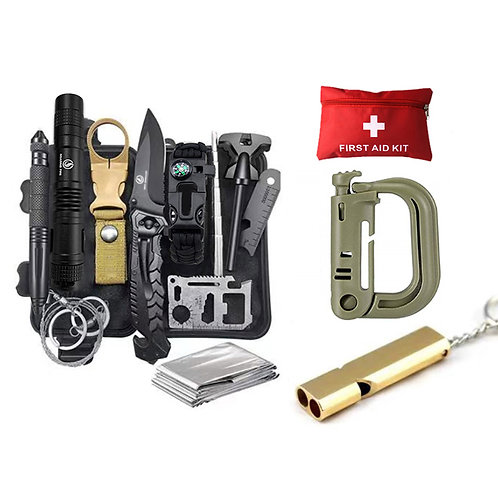 Roaring Fire 26 in 1 Emergency survival tool kits and First aid kit