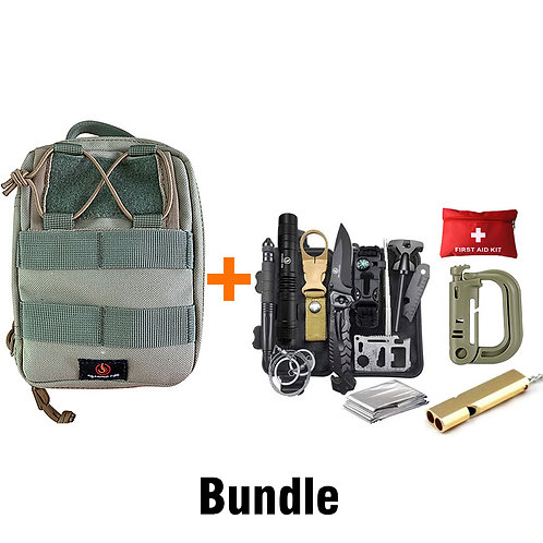 Roaring Fire Ember Pouch Bundle With the 26-in-1 Survival Kit