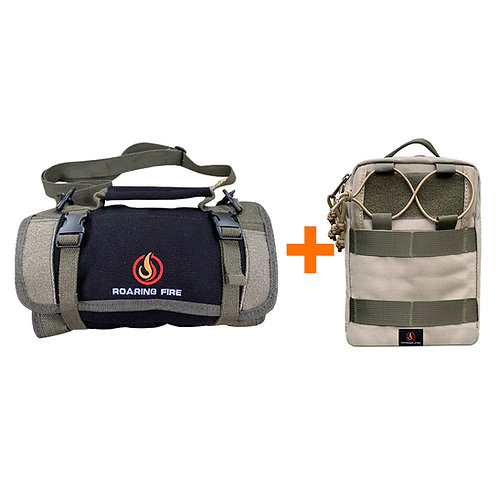 Armadillo Mini Tool Roll Bag Bundle With Ember Pro Organizer Pouch