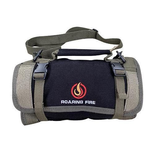 Black Armadillo Mini Tool Roll Bag, Roll Up Tool Bag