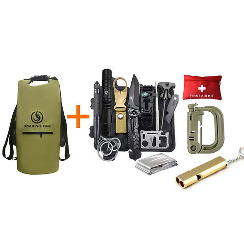 Roaring Fire Survival Kit Bundle With Dry Bag