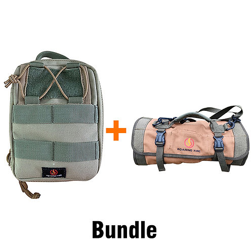 Roaring Fire Ember Pouch Bundle With the Armadillo Tool Roll Bag