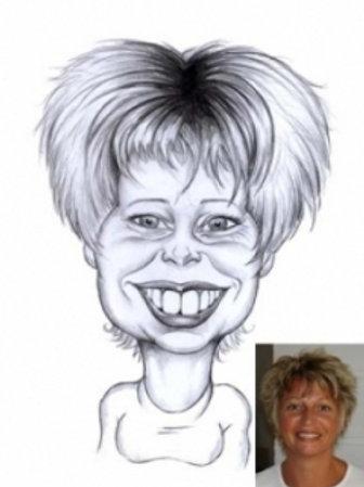 Caricature noir et blanc visage